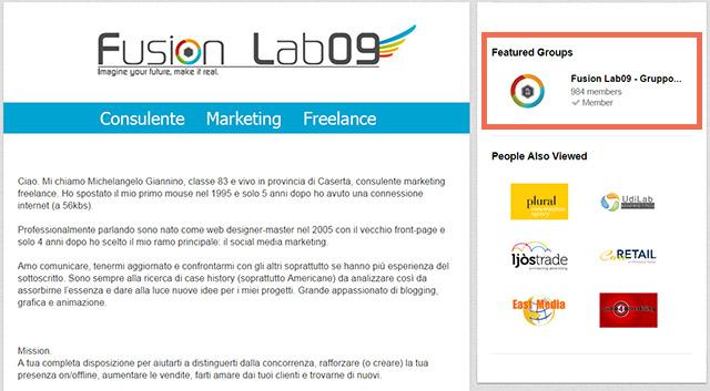 brand page linkedin gruppo