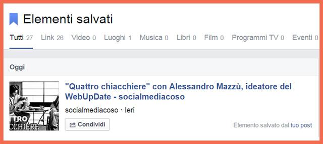 link facebook salvato
