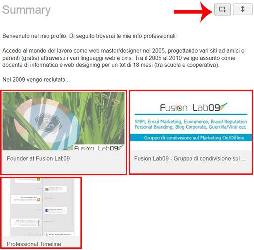 strumenti linkedin elementi multimediali nel proflilo