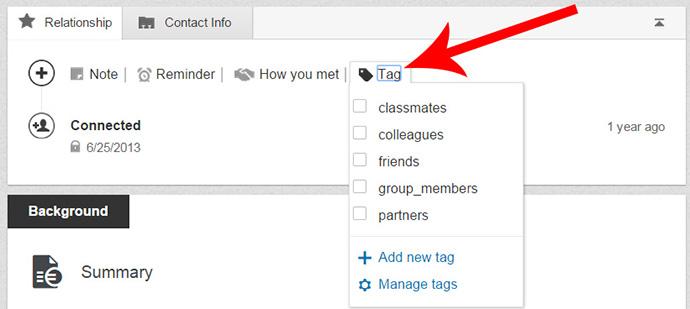 strumenti linkedin tag