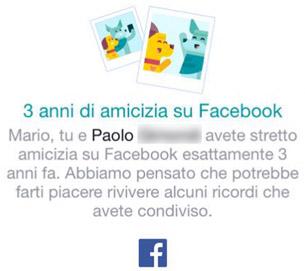 amicizia facebook anniversario