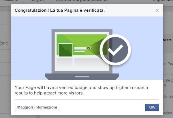 verificare fan page facebook passo 3